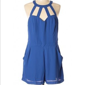 NWOT BISOU BISOU ROYAL BLUE ROMPER